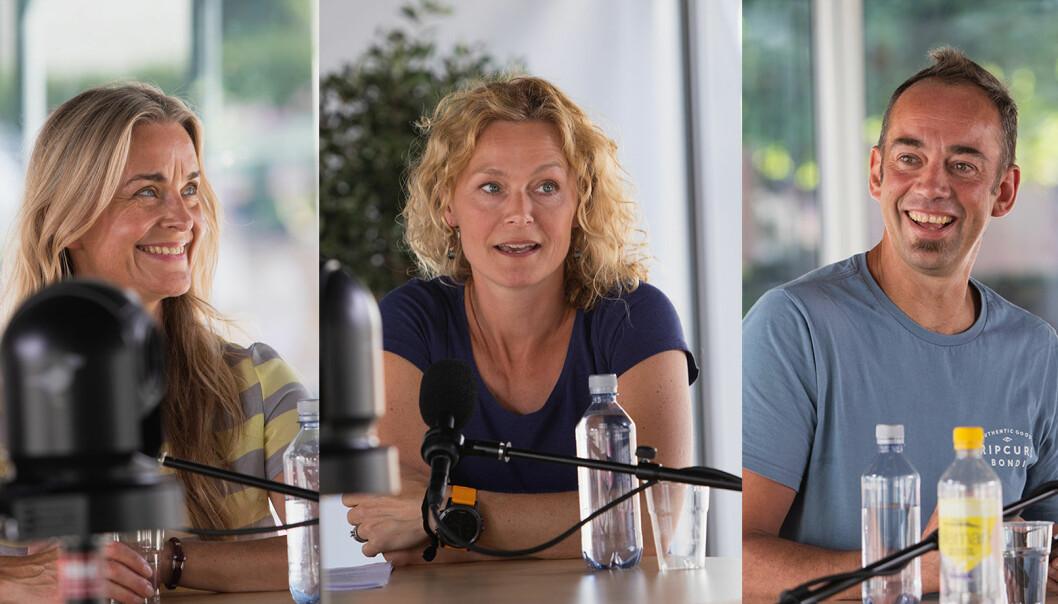 Hilde Sandvik, Sunniva Engh og Malcolm Langford snakker om hvordan Norden oppfattes i verden, i podkasten Universitetsplassen LIVE.