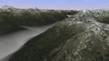 En virtuell verden kan by på turer over fjellet. Hva ligger på den andre siden? (Foto: Presagis)