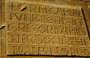 Norway multilingual since the middle ages - mixed runes and letters, Old Norse and Latin