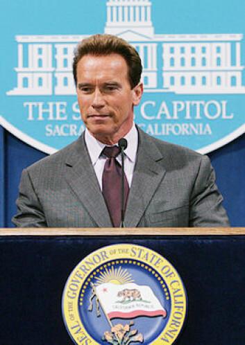 """""""Arnold Schwarzenegger har fått en bille oppkalt etter seg. Foto: Governor Arnold Schwarzenegger Media Center."""""""