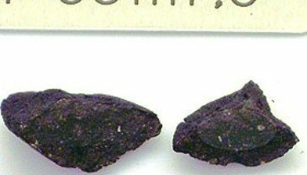Denne meteoritten gøymte restar frå supernova
