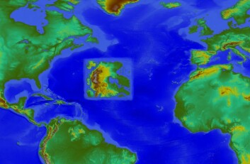 I Atlanteren ligger et fiktivt kontinent. (Foto: FFI)