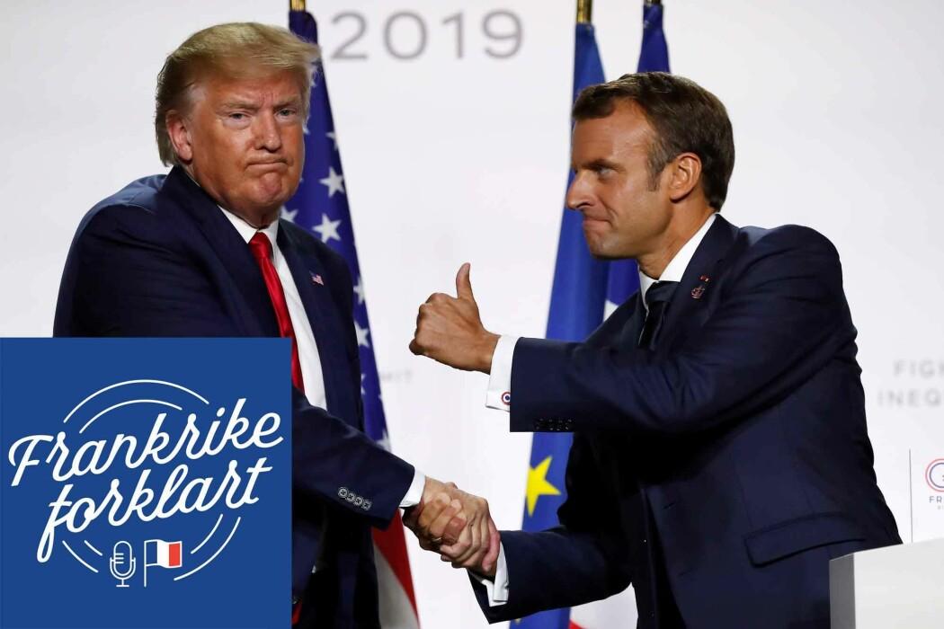 En stund snakket man om «bromance» for å omtale forholdet mellom Trump og Macron etter at den sistnevnte ble fransk president i 2017. Kommentatorene kunne ikke begripe at to så ulike statsledere kunne stå hverandre så nært.