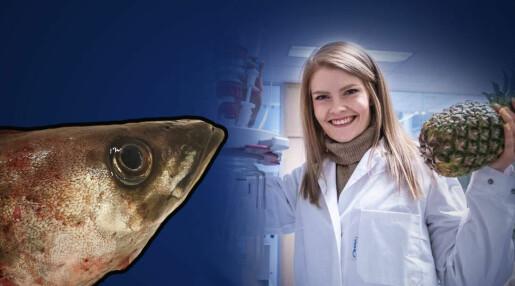 Veronica forsker på hvordan fiskehoder kan bli til mat
