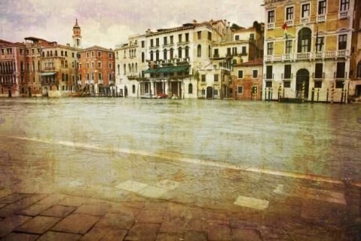 I Venezia er det oversvømmelser flere ganger i året. (Illustrasjonsfoto: colourbox.no)