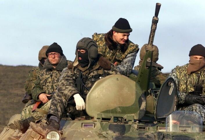 Julie Wilhelmsens doktorgradsavhandling viser hvordan en ny krig mot Tsjetsjenia i 1999 etter hvert fremsto som tvingende nødvendig for den russiske politiske eliten og befolkningen, til tross for at en slik krig nærmest var utenkelig et halvår i forveien. (Foto: Scanpix, Lise Åserud)