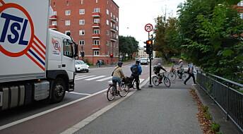 Fotgjengere og bilister er sintere på syklistene enn på hverandre