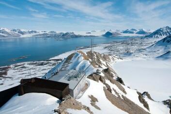 NILUs observatorium på Zeppelinfjellet i Ny-Ålesund. (Foto: NILU - Norsk institutt for luftforskning)