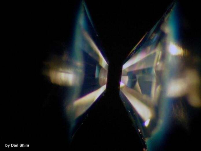 Bilde av en diamant-ambolt-celle.