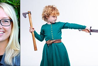 Barna til vikingene øvde seg med sverd og ble voksne tidlig