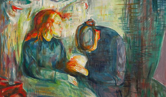 Kunstnermyten påvirker hvordan man forsto og forstår Munchs malerier, mener Toft-Eriksen. Det syke barn (Syk pike) provoserte i 1886 med sin skisseaktige stil.