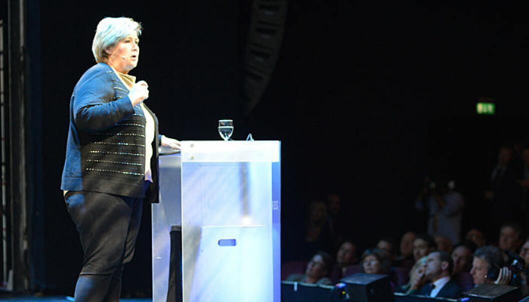 Erna Solberg på Zerokonferansen 5. november 2013. Statsministerens kontor