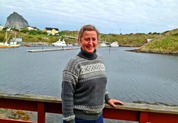 Pia Heike Johansen på Træna. (Foto: Privat)