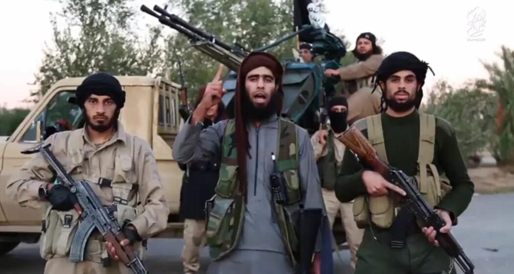 Krigere i en propagandavideo fra terrorgruppa Den islamske staten (IS).