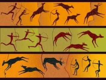 For 40.000 år siden malte steinaldermennesker motiver av blant annet dyr i noen huler i Spania. Det viser at mennesket også den gang hadde bevissthet. (Foto: Colourbox)