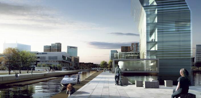 Det nye Munchmuseet, sett fra østkanten. (Foto: Hav Eiendom)