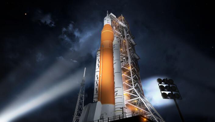 Slik ser NASA SLS for seg før oppskytning.
