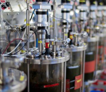 Biogasslaboratoriet på Campus Ås. (Foto: Ragnar Våga Pedersen)