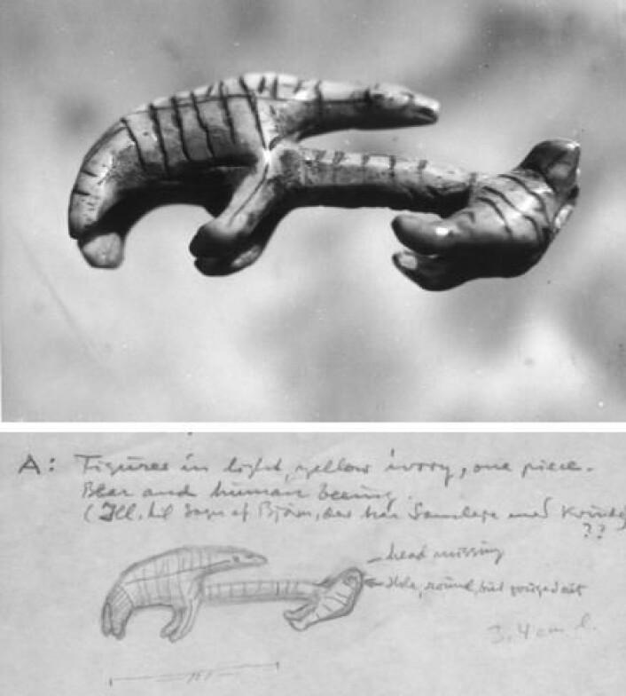 Blant de tusenvis av funnene Jørgen Meldgaard og kollegene hans gravde ut på de kanadiske bosetningene på 1950- og 60-tallet, er de mange fine utskjæringer i hvalrosstann, reinsdyrhorn og drivtømmer særlig interessante. (Foto: Nationalmuseet)