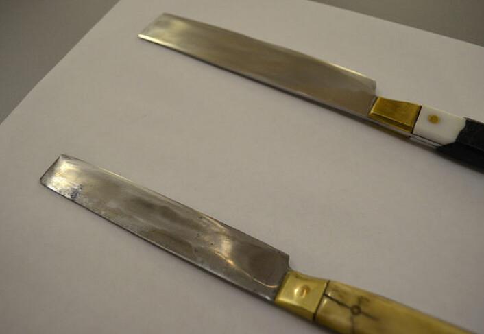 Den tradisjonelle kniven som brukes under schächting må til enhver tid være sylskarp og ren. (Foto: Flickr/News 21 - National)