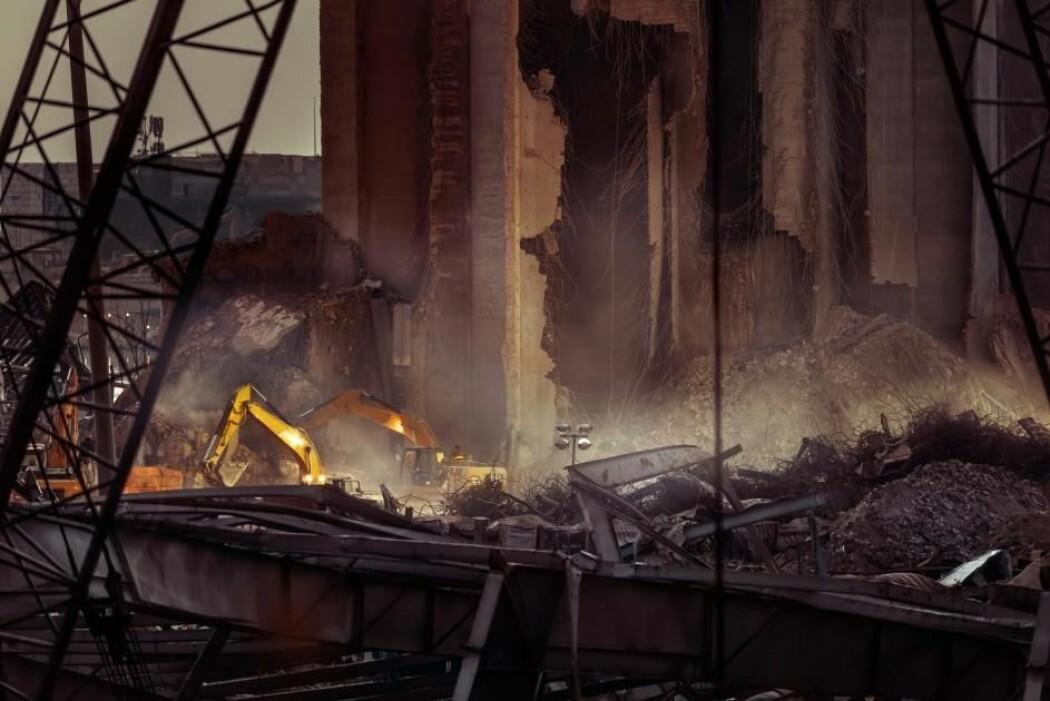 Atombomber er mye større enn eksplosjonen på havna i Beirut, men ødeleggelsene var likevel enorme.