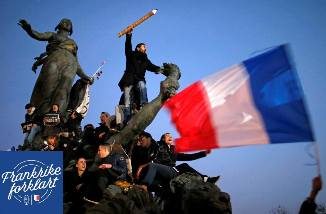 Fra protestene etter angrepet på satiremagasinet Charlie Hebdo i 2015.