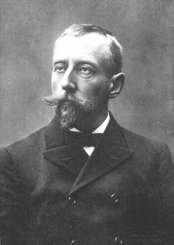Roald Amundsen. Bilde fra boka Nordvestpassasjen. 1908. National Library of Canada. (Foto: Wikimedia Commons)