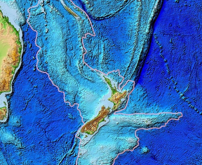 Zealandia består av jordskorpe som er hevet opp fra havbunnen. Men nesten alt ligger under vann.