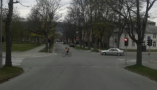 I krysset mellom Vollabakken og Høgskoleveien er det også lite trafikk.