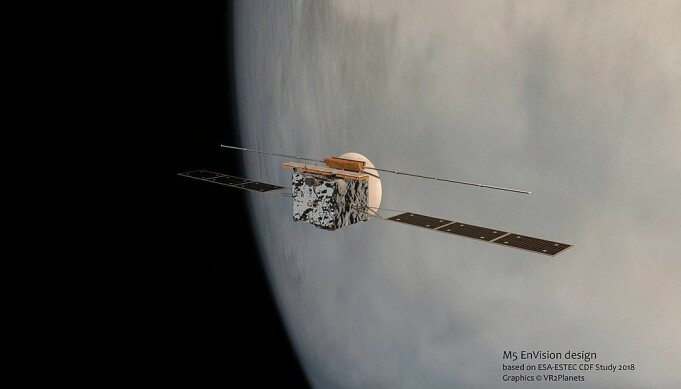 Slik kan EnVision se ut i bane rundt Venus, hvis oppdraget blir noe av.
