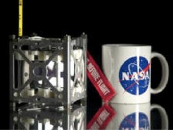 Nanosatellitten PhoneSat skal ta mobilbilder av oss fra verdensrommet. (Foto: NASA)