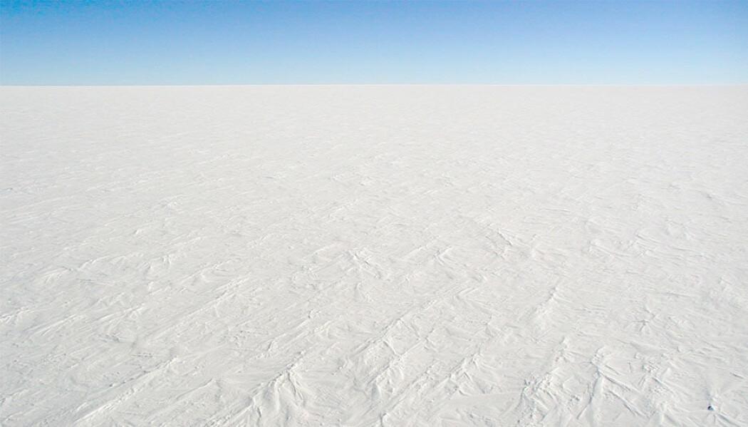 Bildet er fra Antarktis, trolig var det slik det så ut mange steder under snøballjord-periodene.