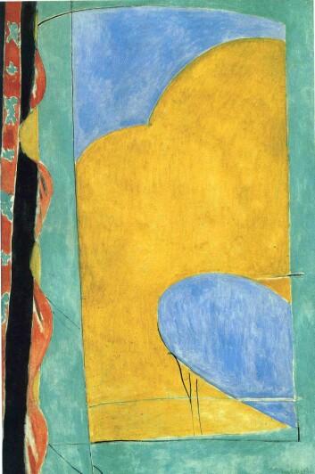 Et bilde brukes gjerne for å lette opp en tekst og for å gi en inngang til den. Men effekten kan være den stikk motsatte, ifølge doktoravhandlingen til Eva Wannås Brante. Den gule gardinen til Henri Matisse er et av de seks bildene som er brukt i testene.