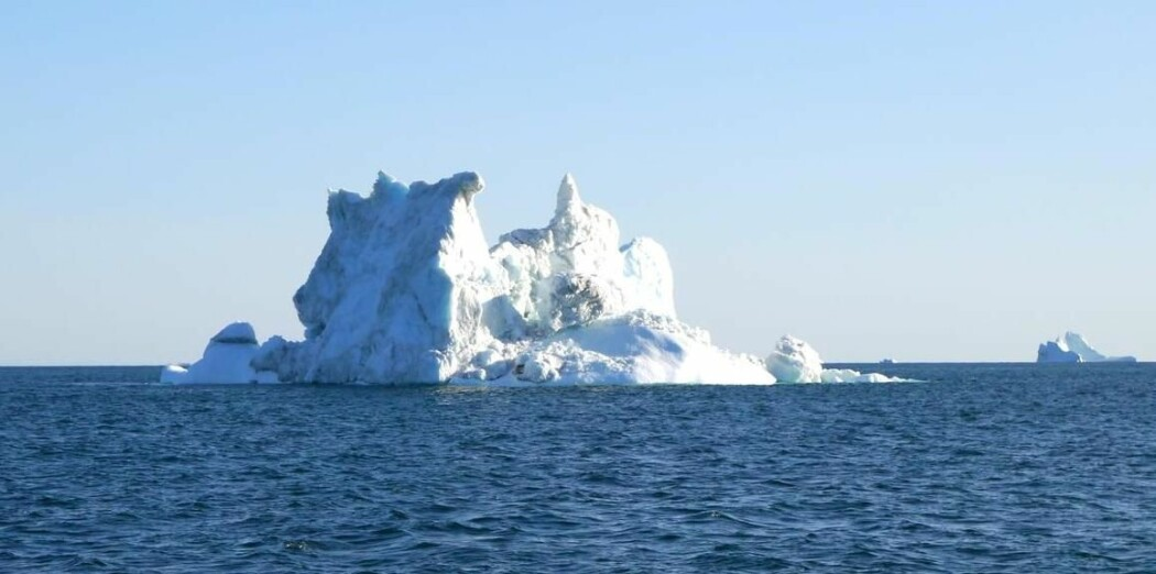 Drivande isfjell utanfor vestkysten Grønland i 2015.