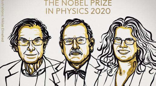 Nobelpriser i fysikk for forskning på sorte hull