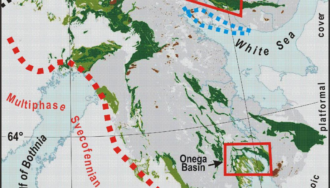"""""""Her skal boringene foregå; i to områder på Kolahalvøya og i et område i Karelen."""""""