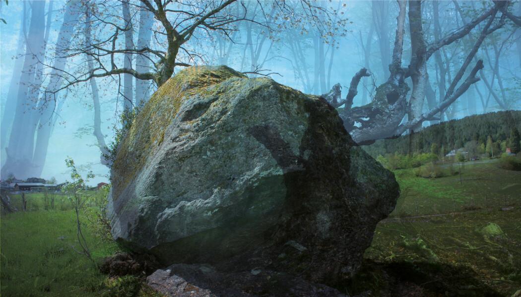 Blei Jutasteinen kasta til jordet på Stord av ein rasande jotne på andre sida av fjorden?