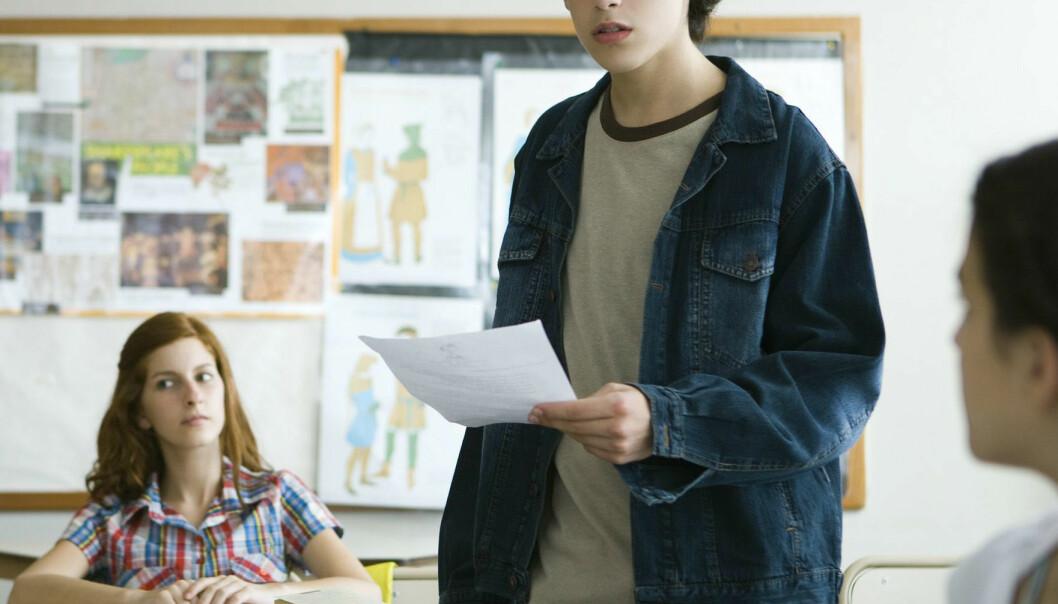 Tre elever i hver ungdomsskoleklasse får spesialundervisning. Colourbox