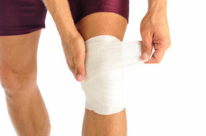 Nesten 20 prosent av alle skadene som ble rapportert var i knærne. (Foto: iStockphoto)