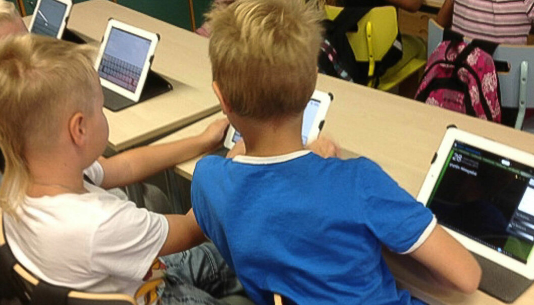 Ny læring med nettbrett på finsk barneskole