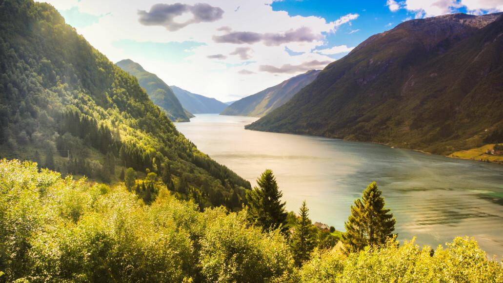 Her ut Sognefjorden kom trolig den aller første isen som nådde havet under istidene.