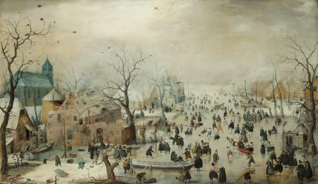 Den nederlandske kunstneren Hendrick Avercamp malte vinteraktivitet på isen første halvdel av 1600-tallet. Da var det kaldt i Sentral- og Nord-Europa.