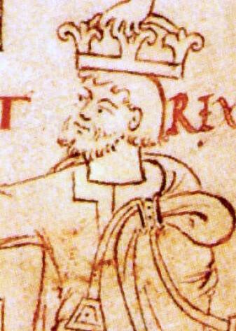 Portrett av Kong Knut fra 1031, fra manuskriptet Liber Vitae