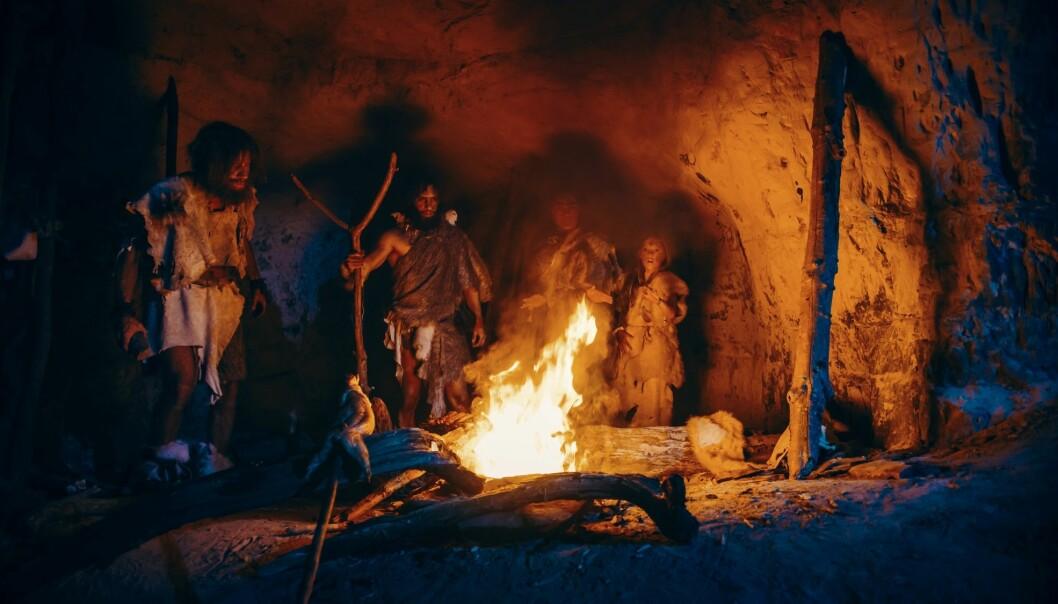 Bål i grotte. I en grotte i Israel ble det funnet redskaper som ser ut til å ha blitt varmebehandlet da de ble laget.