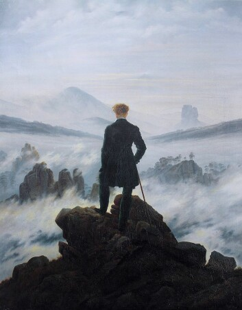 Caspar David Friedrichs selvportrett ble brukt som eksempel på romantikken. Men de beste bildene i læremateriell er kontrastrike og informative, og ikke «bare» dekorative.
