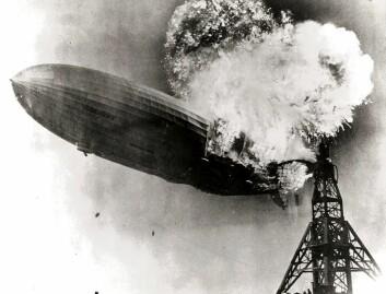 Luftskipet Hindenburg eksploderte 6. mai 1937 i Lakehurst i New Jersey. (Foto: Wikimedia Commons)