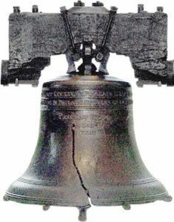 Uregelmessigheter i klokkegodset er med på å lage den levende, komplekse klangen: Liberty Bell, historisk klokke fra Philadelphia, USA. (Foto: (Bilde: Wikimedia Commons))