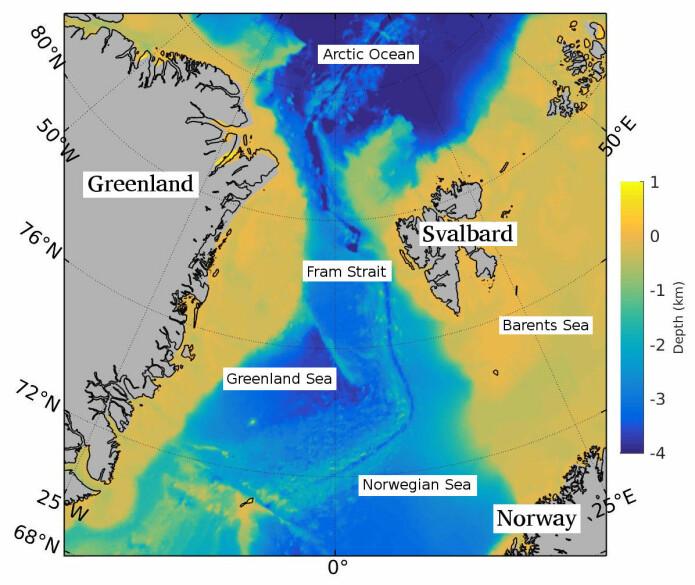 Framstredet mellom Grønland og Svalbard er den eneste dype forbindelsen mellom Polhavet og verdenshavene.