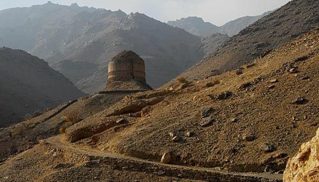 """Stupa i Toop Darra. Foto: (NTNU/Vitenskapsmuseet)"""