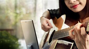 Elever ble kreative med iPad i musikktimene